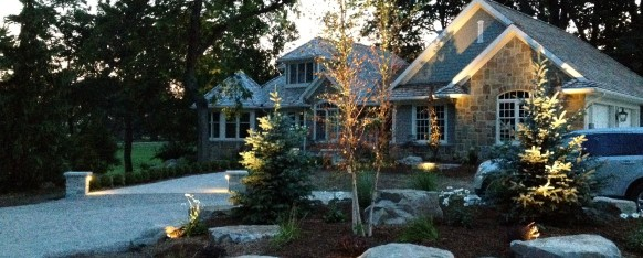 Landscape lighting rural roots landscape and design for Landscape design ontario